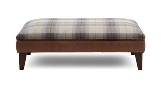 Augustus Check Top Large Footstool