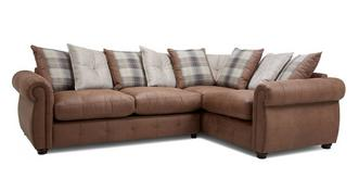 Augustus Pillow Back Left Hand Facing 3 Seater Corner Sofa