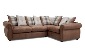 Pillow Back Left Hand Facing 3 Seater Corner Sofa Augustus