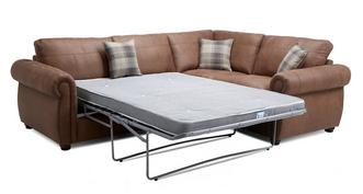 Augustus Formal Back Left Hand Facing 3 Seater Deluxe Corner Sofa Bed