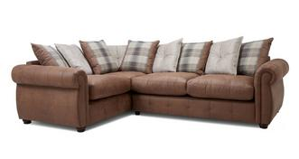 Augustus Pillow Back Right Hand Facing 3 Seater Corner Sofa Bed