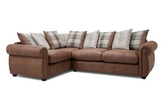 Pillow Back Right Hand Facing 3 Seater Corner Sofa Bed Augustus