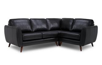 Leather Left Hand Facing Corner Sofa
