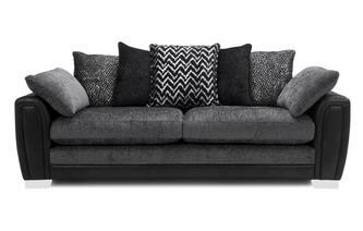 Pillow Back 4 Seater Sofa Carrara