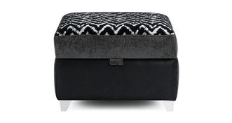 Aviana Pattern Top Storage Footstool