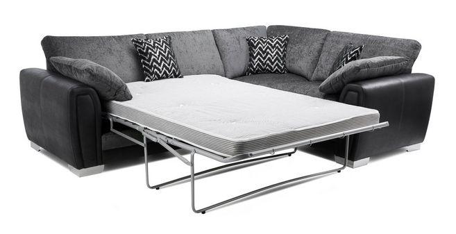 Aviana: Formal Back Left Hand Facing Deluxe Corner Sofa Bed