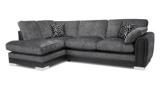 Aviana Formal Back Right Hand Facing 3 Seater Open End Corner Sofa