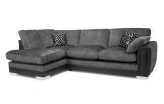 Formal Back Right Hand Facing 3 Seater Open End Corner Sofa Carrara