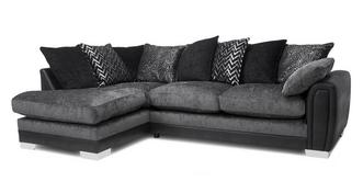 Aviana Pillow Back Right Hand Facing 3 Seater Open End Corner Sofa