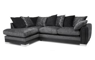 Pillow Back Right Hand Facing 3 Seater Open End Corner Sofa Carrara