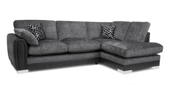 Aviana Formal Back Left Hand Facing 3 Seater Open End Corner Sofa