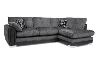 Formal Back Left Hand Facing 3 Seater Open End Corner Sofa Carrara