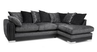 Aviana Pillow Back Left Hand Facing 3 Seater Open End Corner Sofa