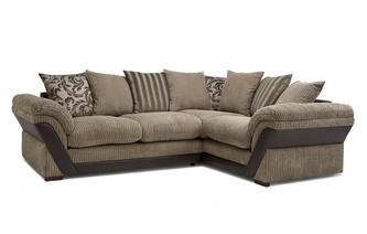 Pillow Back Left Hand Facing 2 Seater Corner Sofa Inception