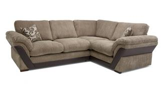 Barney Formal Back Left Hand Facing Deluxe Corner Sofa Bed