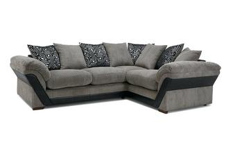 Pillow Back Left Hand Facing Deluxe Corner Sofa Bed Roxy