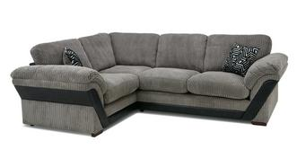 Barney Formal Back Right Hand Facing Deluxe Corner Sofa Bed
