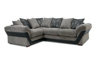 Pillow Back Right Hand Facing Deluxe Corner Sofa Bed Roxy