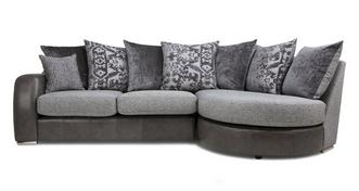 Belmont Pillow Back Left Hand Facing 3 Seater Chaise End Sofa