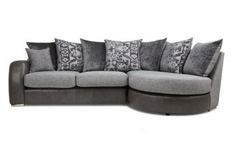 Pillow Back Left Hand Facing 3 Seater Chaise End Sofa Belmont