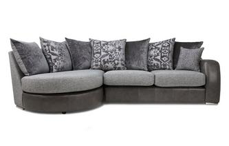 Pillow Back Right Hand Facing 3 Seater Chaise End Sofa Belmont