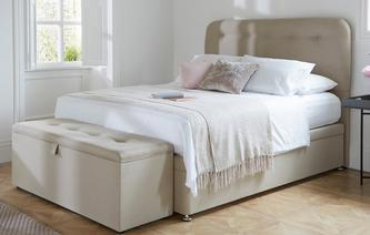 Beth Double Ottoman Bedframe Cotton
