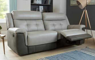 Birch 3 Seater Manual Recliner Bacio Vellutato