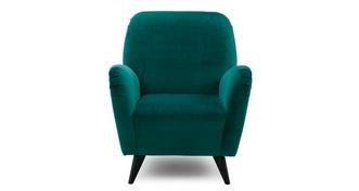 Bohemian Velvet Accent Chair