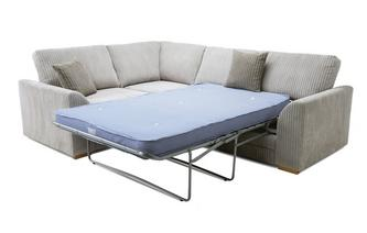 Right Hand Facing 2 Seater Deluxe Sofa Bed Corner Sofa