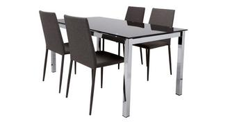 Bravo Fixed Top Dining Table and 4 Zenn Chairs