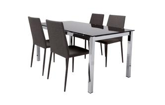 Fixed Top Dining Table and 4 Zenn Chairs