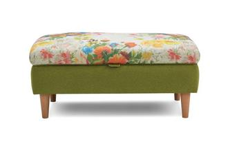 Small Floral Top Storage Footstool