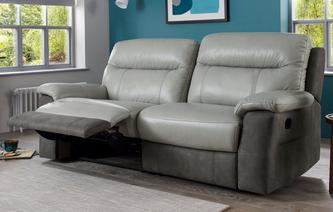 Briony 3 Seater Manual Recliner Bacio Vellutato