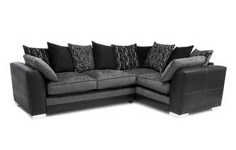 Pillow Back Left Hand Facing Supreme Corner Sofa Bed