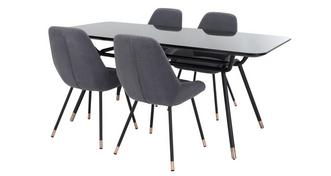 Brooklyn Dining Fixed Top Table and 4 Chairs