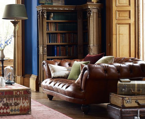Chesterfield Brown Leather Sofas