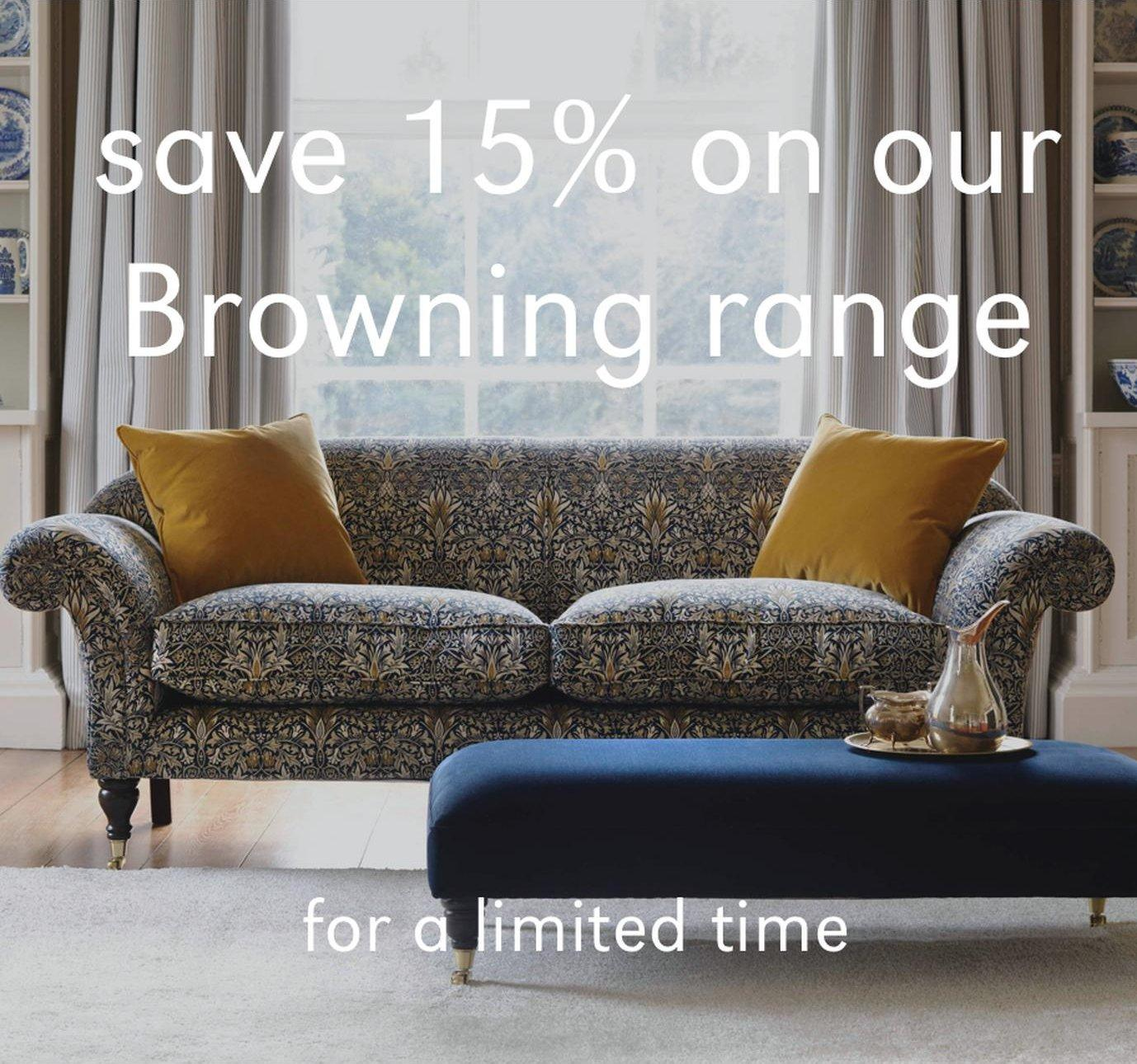 Browning sofas 15% off