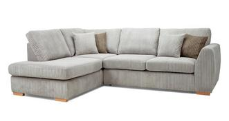 Bruno Right Hand Facing Arm Open End Deluxe Sofabed Corner Sofa