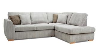 Bruno Left Hand Facing Arm Open End Deluxe Sofabed Corner Sofa