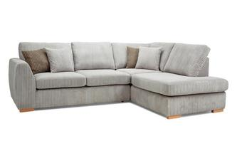 Left Hand Facing Arm Open End Deluxe Sofabed Corner Sofa Marley