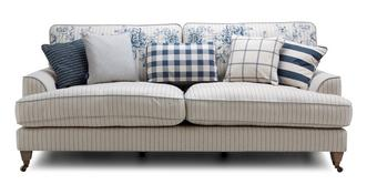 Burnham Stripe 4 Seater Sofa