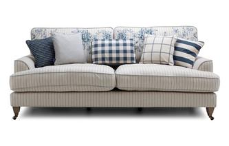 Stripe 4 Seater Sofa Burnham Stripe