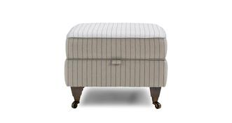 Burnham Stripe Compact Storage Footstool