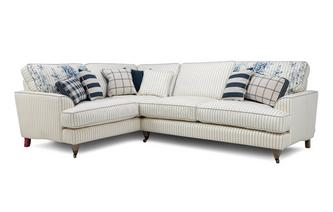 Cotton Stripe Right Hand Facing 3 Seater Corner Sofa Burnham Cotton Stripe