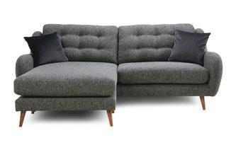 Plain 4 Seater Lounger Sofa