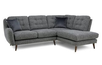 Plain Left Hand Facing Arm Open End Corner Sofa