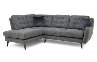 Plain Right Hand Facing Arm Open End Corner Sofa