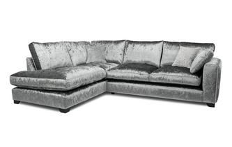 Formal Back Right Hand Facing Arm 3 Seat Open End Corner Sofa