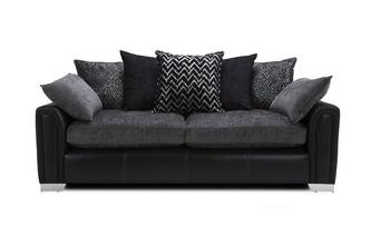 4 Seater Pillow Back Sofa Carrara