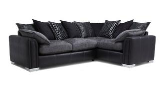Carrara Left Hand Facing Pillow Back 3 Seater Deluxe Corner Sofa Bed